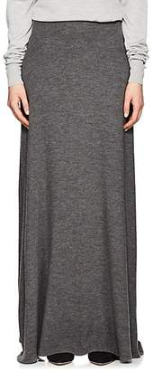 The Row Women's Oda Cashmere Maxi Skirt - Dark Grey Melange
