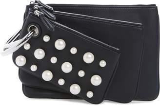 Fendi Triplette Imitation Pearl Set of Three Leather Pouches