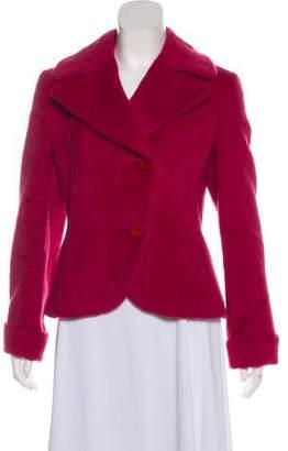 Max Mara Alpaca & Wool Button-Up Jacket