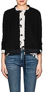 Moncler Women's Fine Gauge-Knit Zip-Front Cardigan-Black