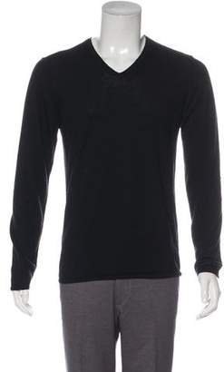 John Varvatos Long Sleeve V-Neck Sweater