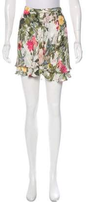 Haute Hippie Silk Floral Shorts