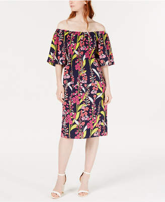 Trina Turk Trina Printed Convertible Floral A-Line Dress