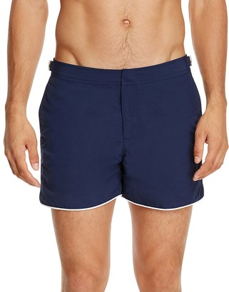 Orlebar Brown Setter Contrast Piping Swim Trunks $265 thestylecure.com