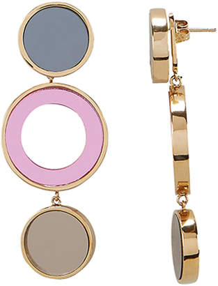 Colette Malouf Reflection Bronze And Pink Circle Earrings