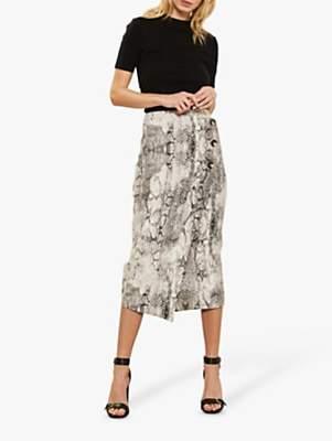 820b2cca97 Mint Velvet Sasha Snake Print Pencil Skirt, Multi