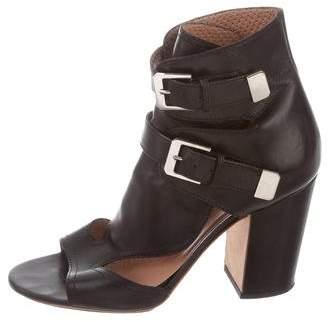 Laurence Dacade Leather Block-Heel Sandals