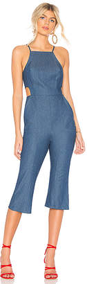BCBGeneration Cropped Flare Jumpsuit.