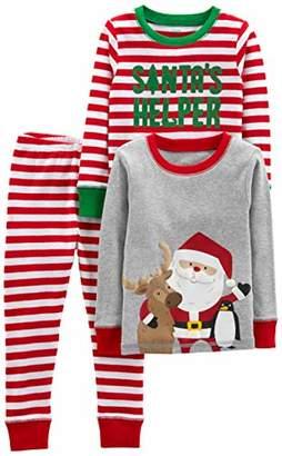 Carter's Simple Joys by Boys' Toddler 3-Piece Snug-Fit Cotton Christmas Pajama Set