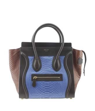 Celine Blue Exotic leathers Handbags