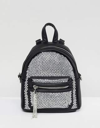 Aldo Backpack with Crystal Studding Detail and Tassels