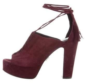 Michael Kors Lace-Up Platform Sandals