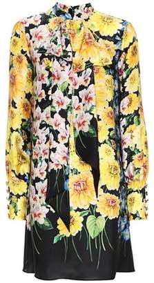 Gucci Floral-printed silk dress