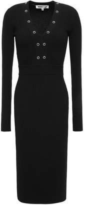 McQ Eyelet-embellished Stretch-knit Dress