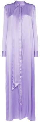 Michael Lo Sordo collared and wrap neck silk dress