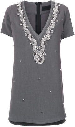 DAY Birger et Mikkelsen Andrea Bogosian strass embellished T-shirt dress