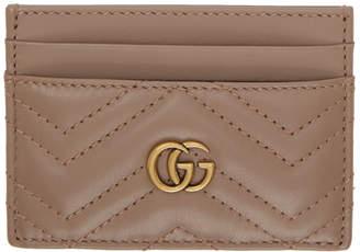 Gucci Beige GG Marmont Card Holder
