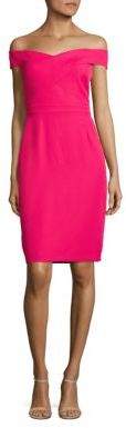 Laundry by Shelli Segal Off-The-Shoulder Sheath Dress $195 thestylecure.com