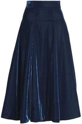 Emilia Wickstead Velvet Midi Skirt
