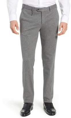 Hiltl Tero Trim Fit Flat Front Solid Cotton Trousers