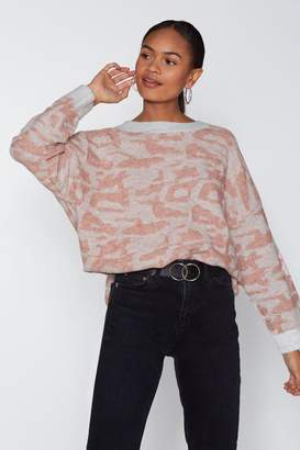 Nasty Gal Call the Shots Leopard Sweater