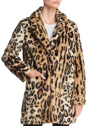 Bloomingdale's Apparis Margot Leopard-Print Faux-Fur Coat