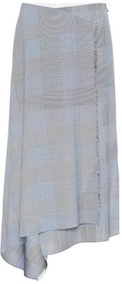 Roland Mouret Panama checked wool and mohair skirt