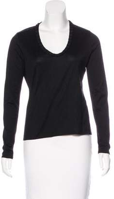 Saks Fifth Avenue Scoop Neck Long Sleeve Top