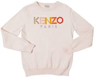 Kenzo Logo Cotton & Cashmere Sweater
