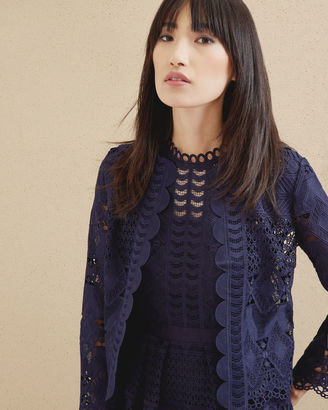 Scalloped lace jacket $365 thestylecure.com