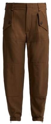Chloé - Zipped Ankle Trousers - Womens - Light Brown