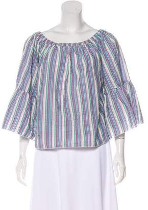 See by Chloe Striped Off-the-Shoulder Top
