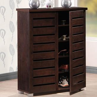 Baxton Studio Adalwin Wood Shoe Storage Entryway Cabinet
