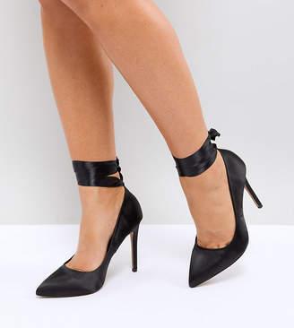 Asos DESIGN Wide Fit Weak high heeled pumps in black