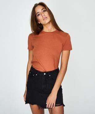 GP Tees Ringer T-shirt Rust