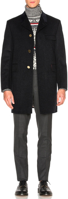 Thom Browne Classic Chesterfield Coat $5,900 thestylecure.com