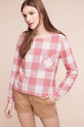 Cloth & Stone Gingham Button-Back Top $88 thestylecure.com