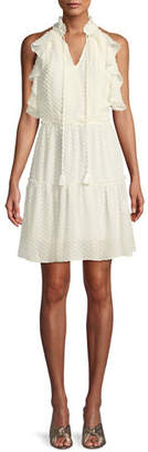 Rebecca Minkoff Emi Sleeveless Ruffle Dress w/ Cutout Back