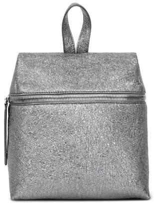 Kara Small Crinkled Metallic Leather Backpack