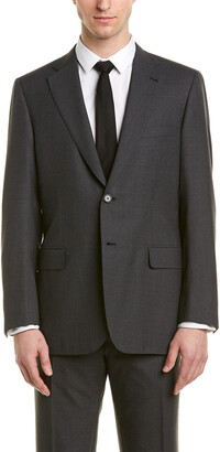 Brioni 2Pc Wool Suit With Flat Front Pant
