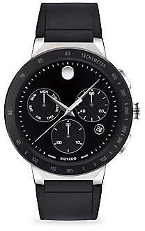 Movado Sapphire Sport Chronograph Black Rubber Strap Watch