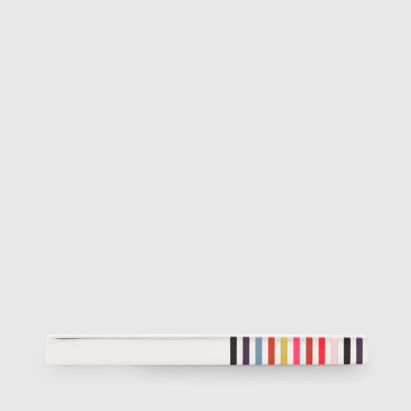 Paul SmithMen's Bright Multi-Stripe Tie Clip