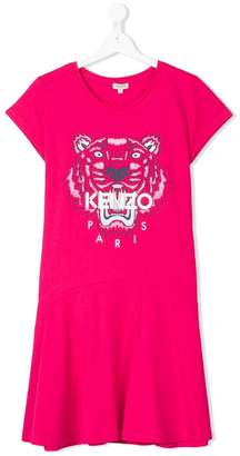Kenzo Teen Tiger print dress