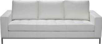 Orren Ellis Witney Leather Sofa Orren Ellis