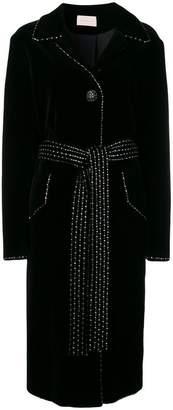 Christopher Kane dot dash velvet coat