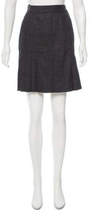 Chanel Pleated Wool Skirt