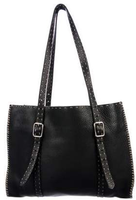 Fendi Selleria Leather Tote Black Selleria Leather Tote