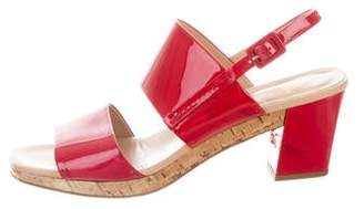 Roger Vivier Patent Leather Buckle Sandals