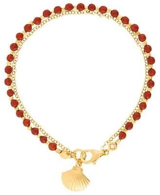 Astley Clarke Red Agate Shell Biography bracelet