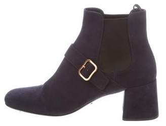 Prada Square-toe Suede Boots